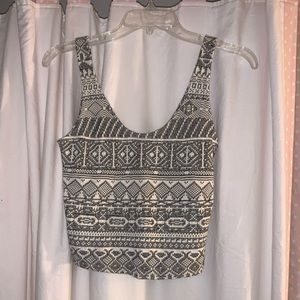 Hollister tribal print knit crop top